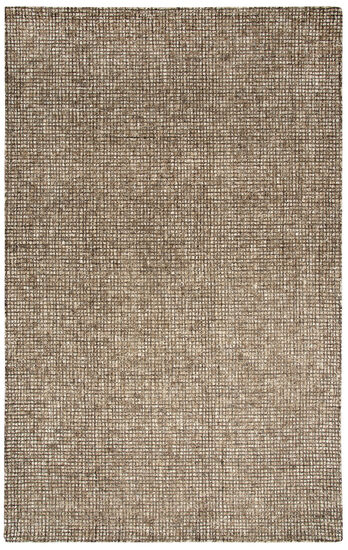 "Casual/Solid Hand-Tufted 2'6"" x 8' Rectangle Rug in Brown"
