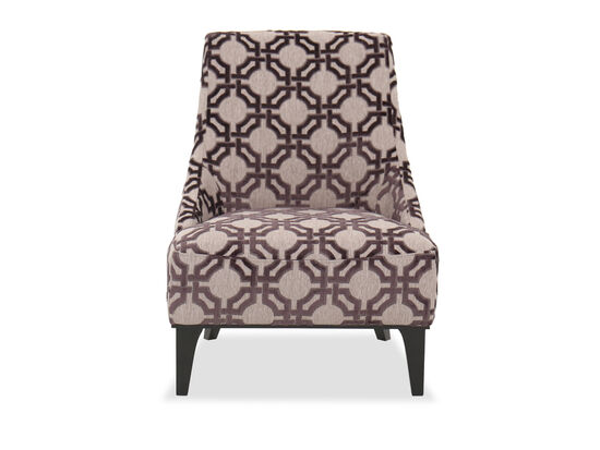 "Casual 28"" Geometric Patterned Chair"