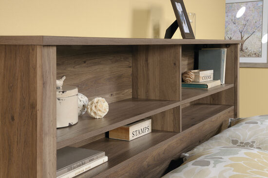 "Contemporary 47"" Full/Queen Bookcase Headboard in Salt Oak"