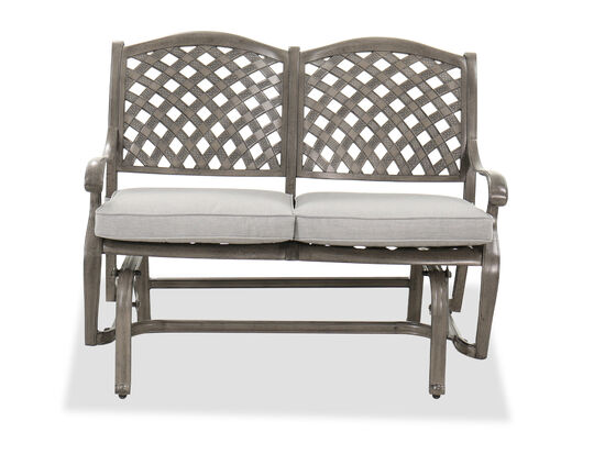Casual Glider Bench in Gray