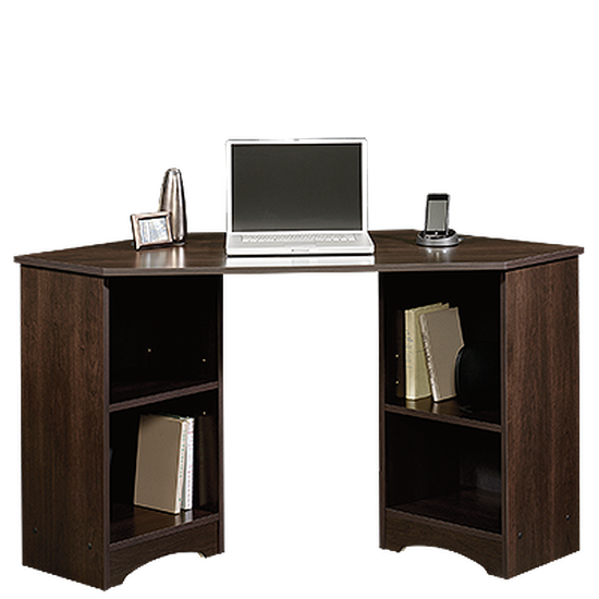 "53"" Casual Four-Shelf Corner Desk in Cinnamon Cherry"