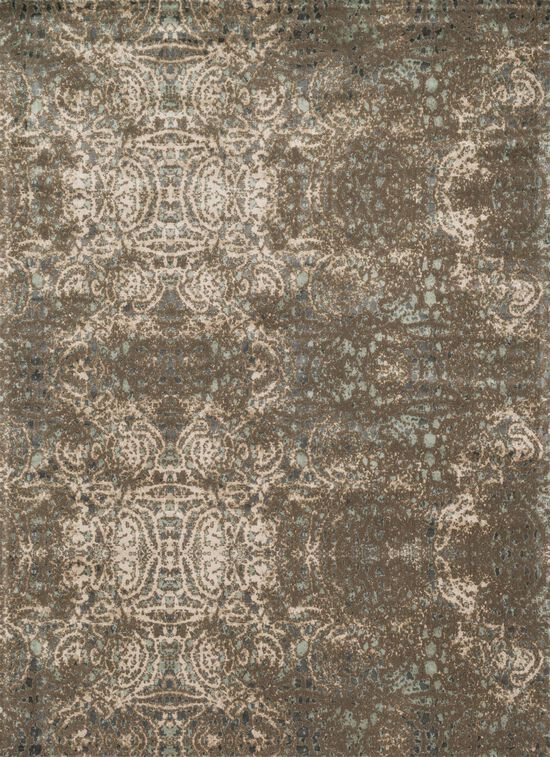 "Transitional 5'-0""x7'-6"" Rug in Dk Taupe/Multi"