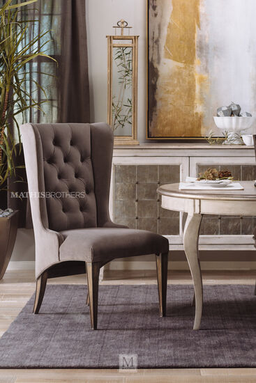 "Refined Romantic Luxury 45.5"" Host Chair in Gray"