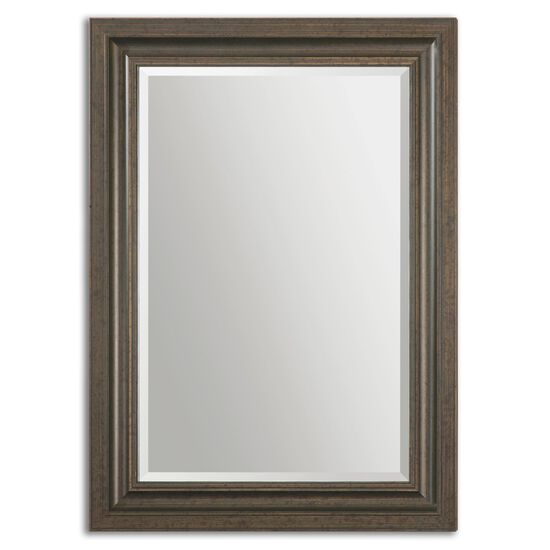 "44"" Solid Pine Frame Mirror in Dark Bronze"