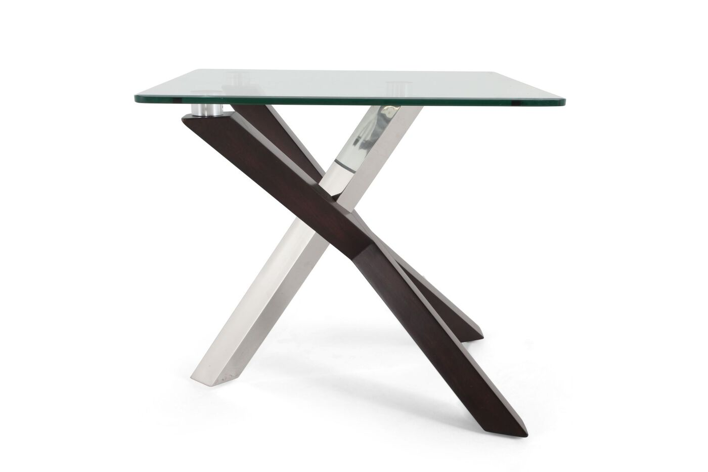 contemporary end tables. Images Rectangular Tempered Glass Contemporary End Table\u0026nbsp;in Walnut Tables A