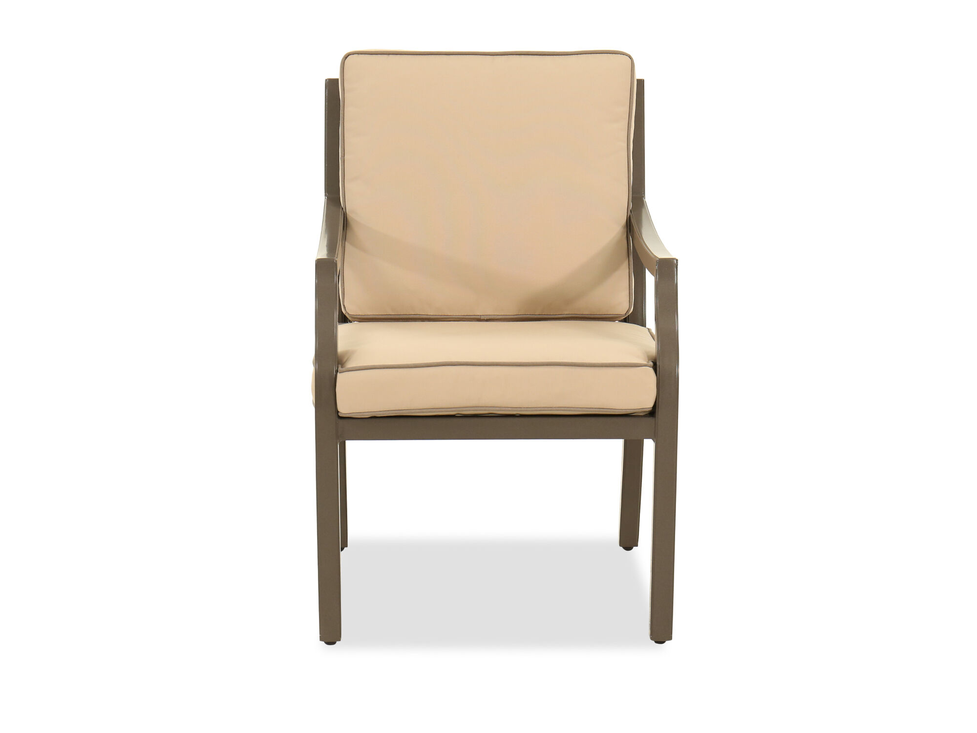 ... Lattice Back Cushioned Patio Dining Chair In Brown ...