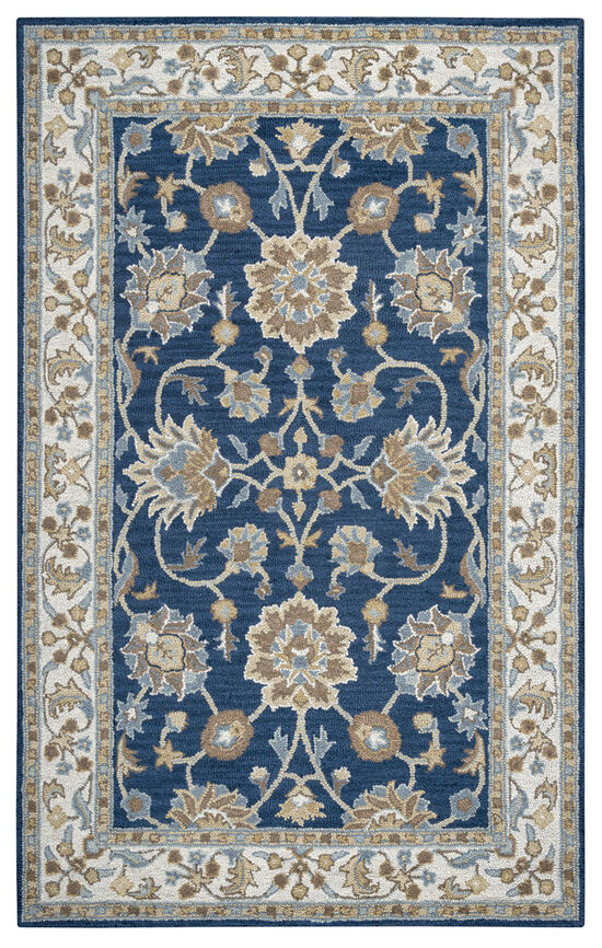 """Traditional Hand-Tufted 2'6"""" x 10' Runner Rug in Blue"""