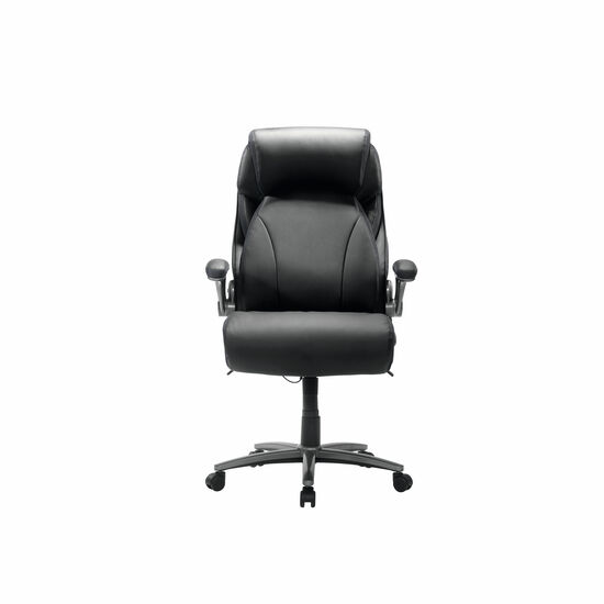 Contoured Executive Office Swivel Tilt Chair in Black