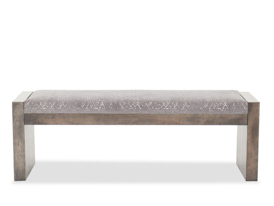 """Rustic 56"""" Dining Room Bench in Gray"""