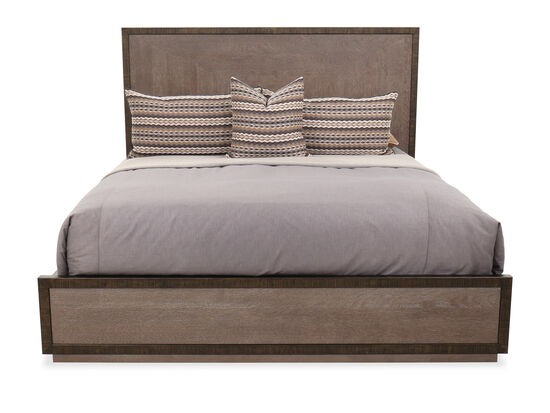 "58.5"" Transitional California King Bed in Flaky Oak"