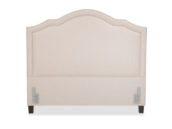 Contemporary Arched 79'' Queen Headboard in Beige