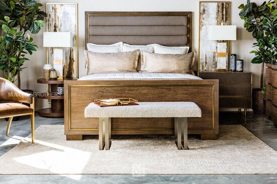 "72"" Modern California King Bed in Dark Brown"