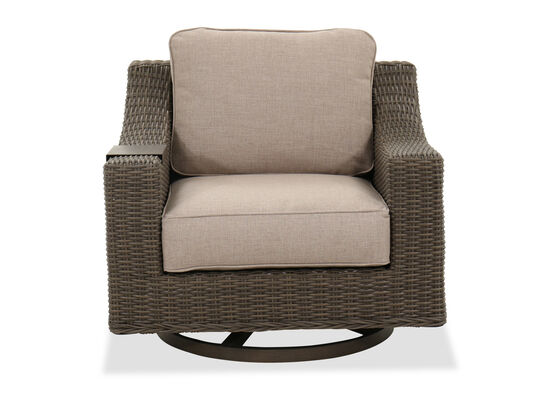 Contemporary Swivel Patio Club Chair in Brown