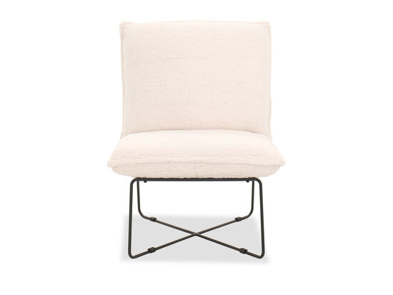 Contemporary Accent Chair in Ivory