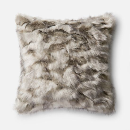 "Contemporary 22""x22"" Pillow Cover Only in Grey"