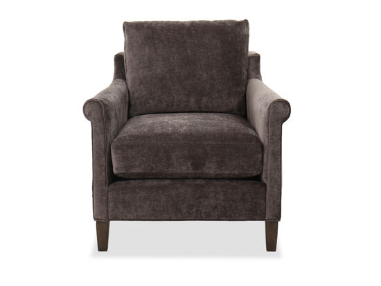 """34"""" Casual Roll Arm Chair in Charcoal"""
