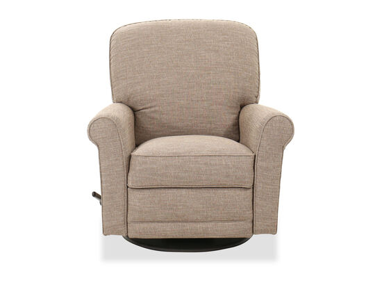 Contemporary 37'' Gliding Rocker Recliner in Sandstone