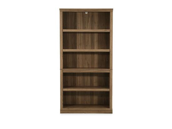 Casual Five-Shelf Bookcase in Salt Oak