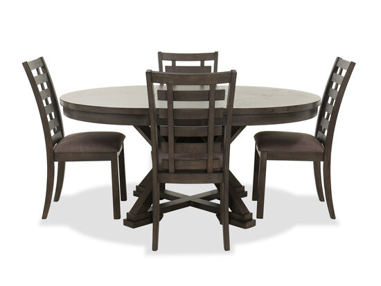 Five-Piece Transitional Dining Set in Brown