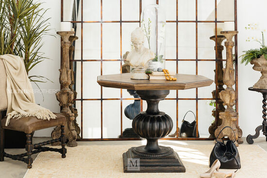 Cabriole-Leg Refined Romantic Luxury Accent Martini Tablein Black