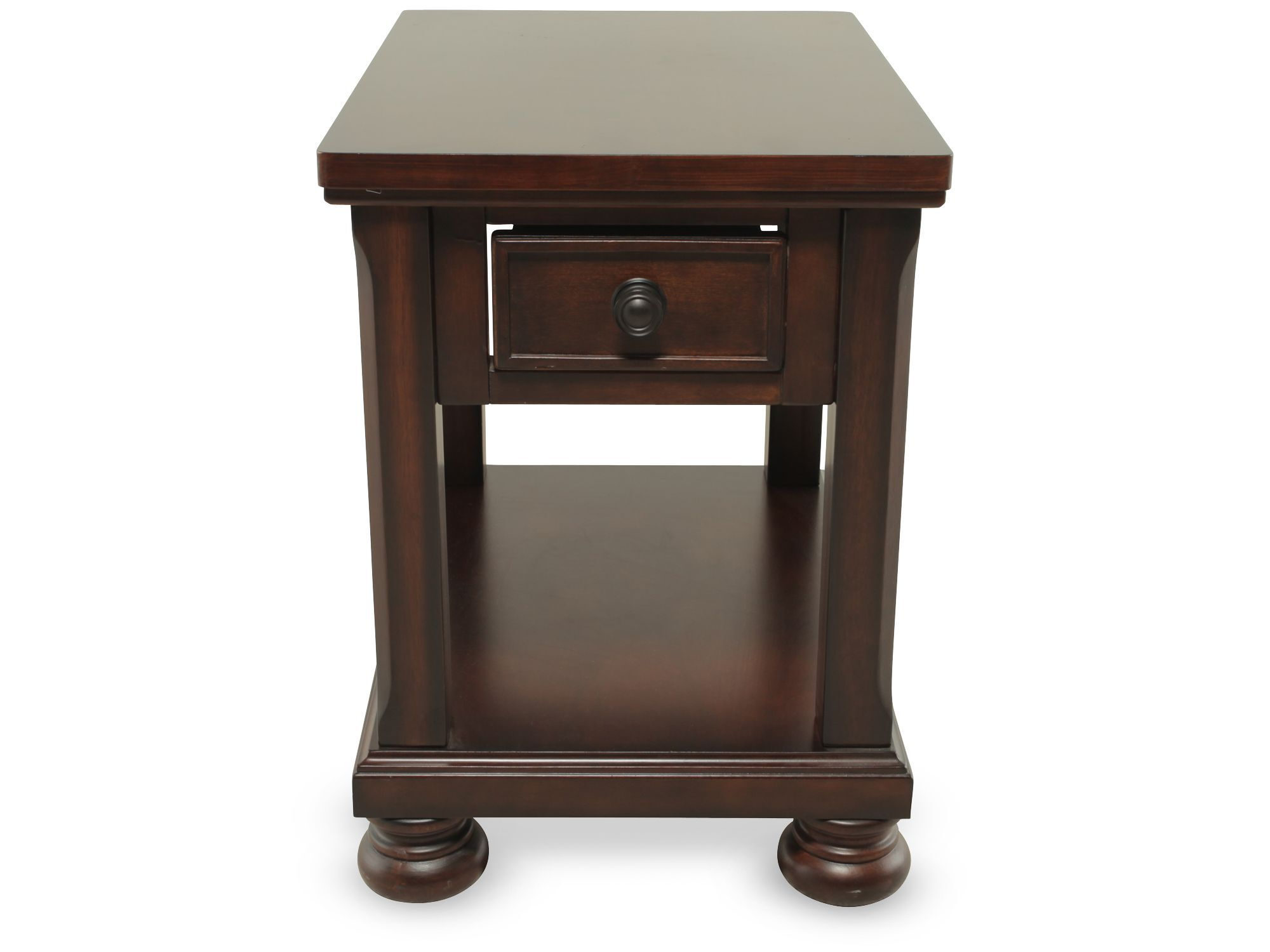 Rectangular One Drawer Traditional End Tableu0026nbsp;in Brown Cherry