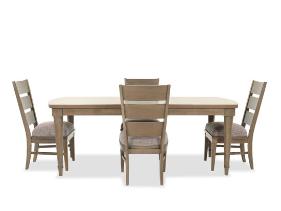 Five-Piece Traditional Dining Set in Brown