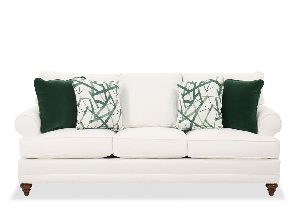 Contemporary Upholstered Sofa in White Cream