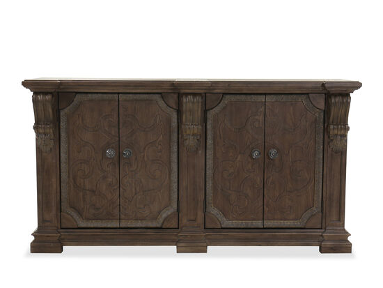 "Traditional 40"" Buffet in Brown"