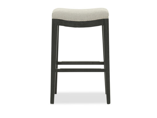 "Contemporary 30"" Backless Bar Stool in Gray"