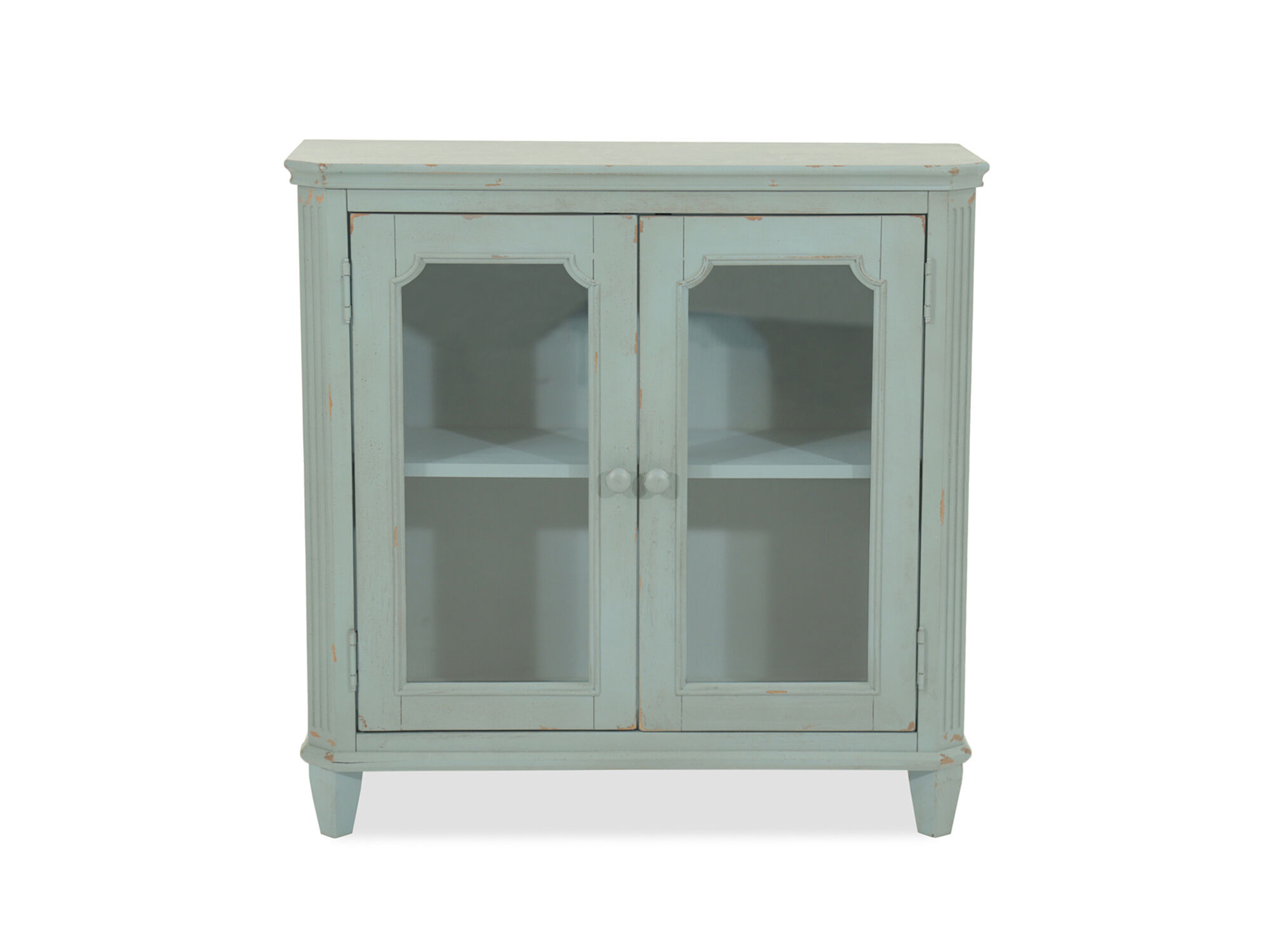 38 Two Door Cottage Accent Cabinet In Teal Mathis