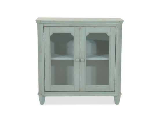 38'' Two-Door Cottage Accent Cabinet in Teal