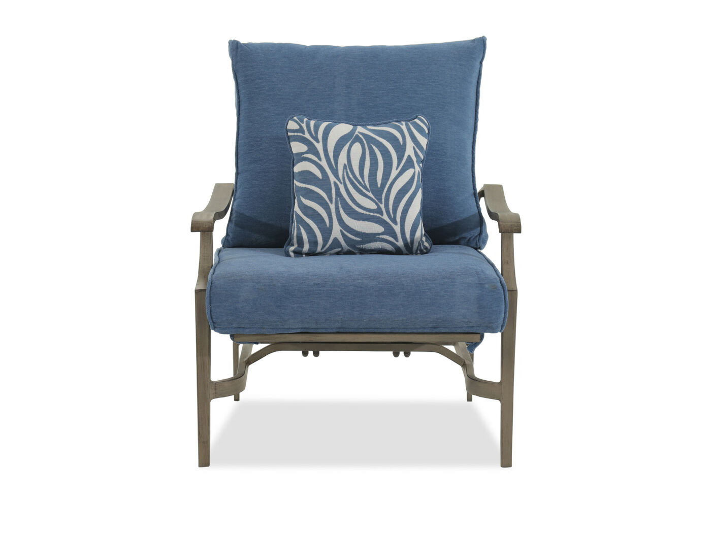 Contemporary Aluminum Lounge Chair In Blue Mathis