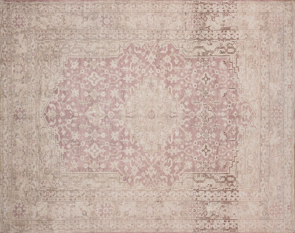 Magnolia Home Lucca Power Loomed Rug in Terracotta/Ivory