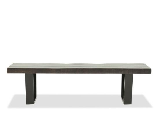 "66"" Rectangular Solid Acacia Bench"
