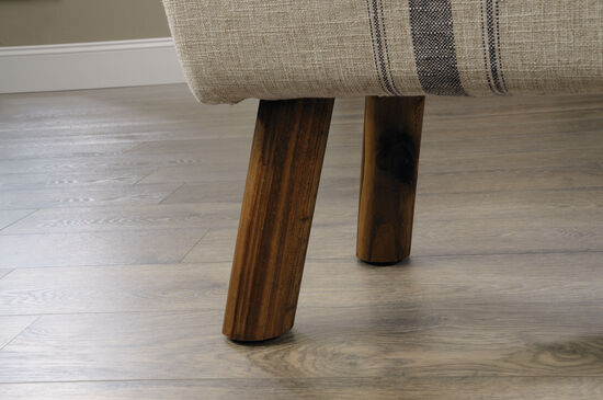 """Contemporary 13"""" Accent Stool in Beige"""