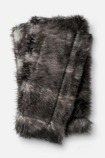 "Contemporary 4'-2""x5' Throw in Black/Grey"