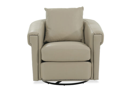 "Transitional 35"" Swivel Glider Chair in Beige"