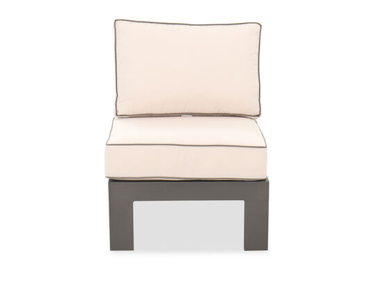 Casual Armless Patio Club Chair in Gray