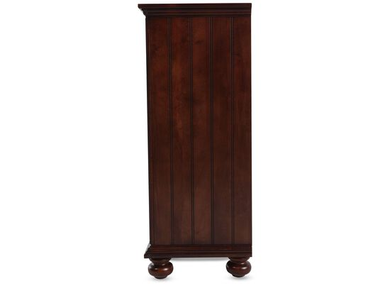 Ten-Drawer Casual Youth Dresser in Dark Brown