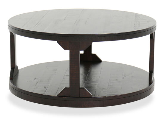 Round Casual Cocktail Table in Rum