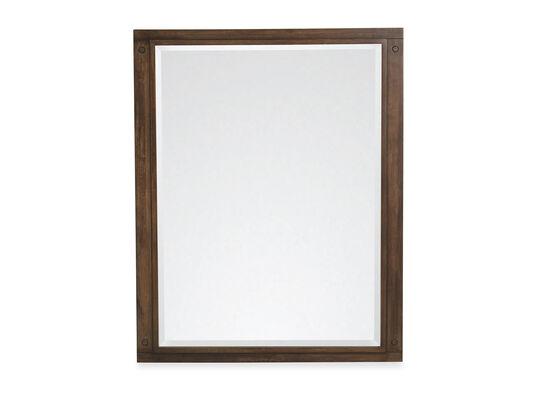 Vertical Youth Bedroom Mirror in Oiled Oak