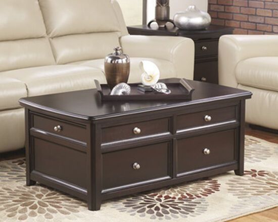 Rectangular Contemporary Cocktail Table in Brown