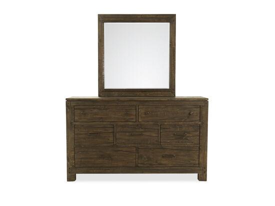 Two-Piece Transitional Dresser & Mirror in Brown