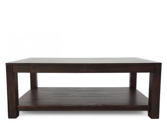 Rectangular Casual Cocktail Table in Dark Walnut