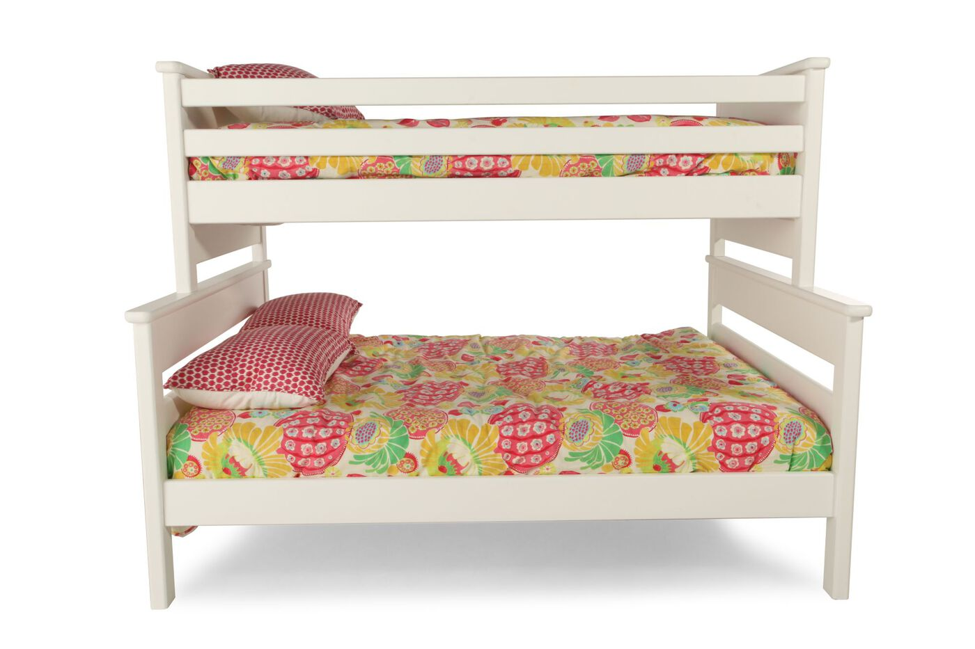 Contemporary Youth Twin Over Full Bunk Bed In White