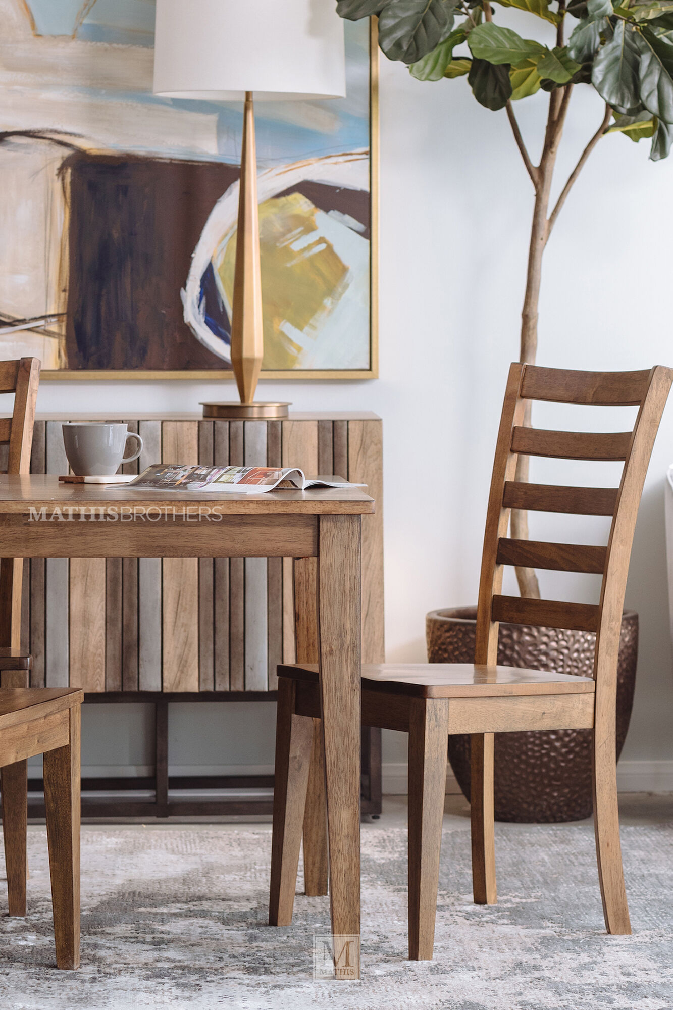 Five-Piece Casual Dining Set In Rustic Brown