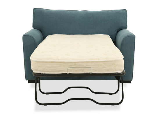 """Transitional 54"""" Chairbed in Blue"""