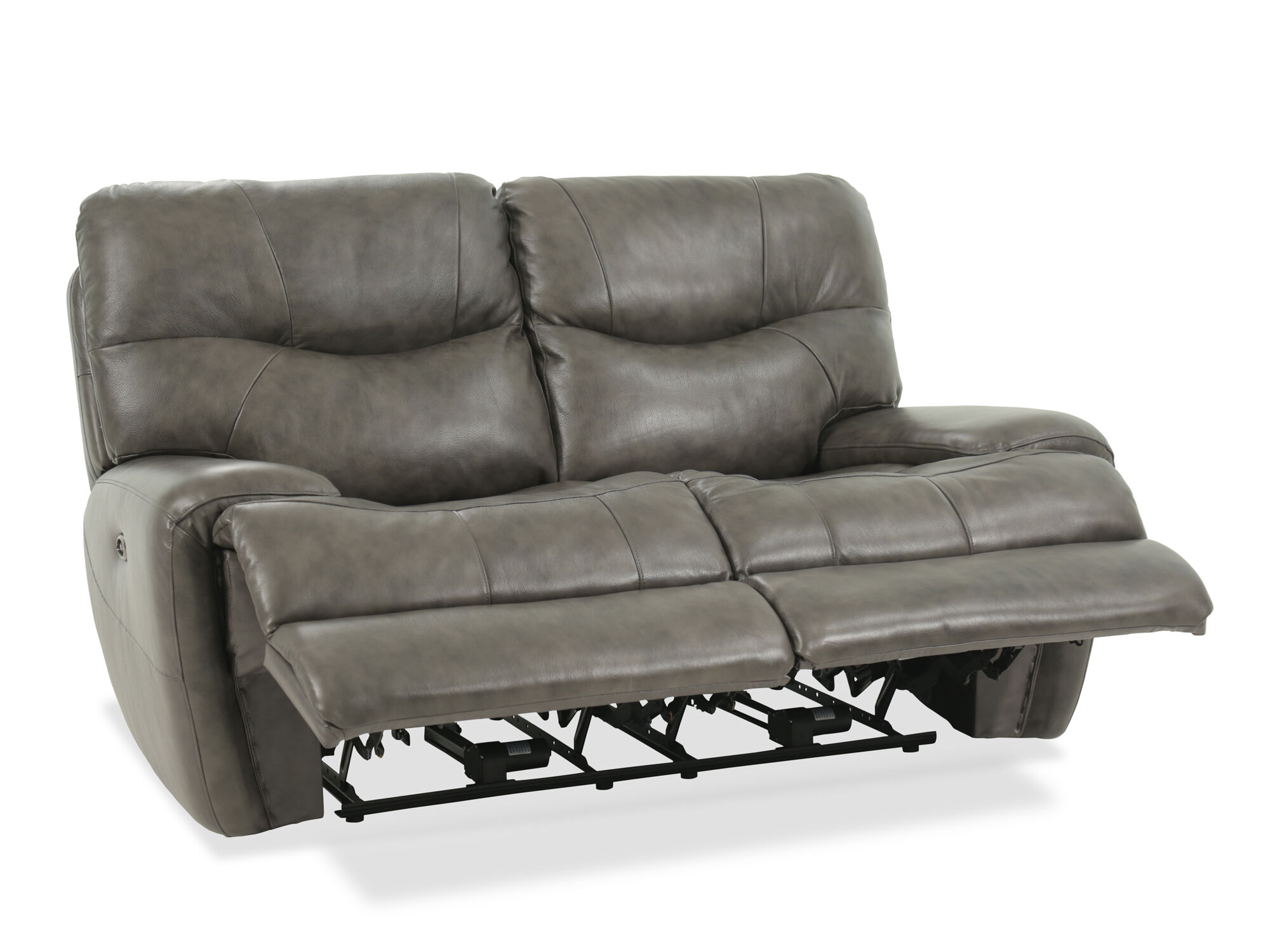 Power Reclining Casual 68 Loveseat In Gray Mathis Brothers Furniture
