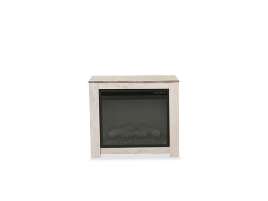 "26"" Remote Controlled Casual LED Fireplace Mantel in Whitewash"