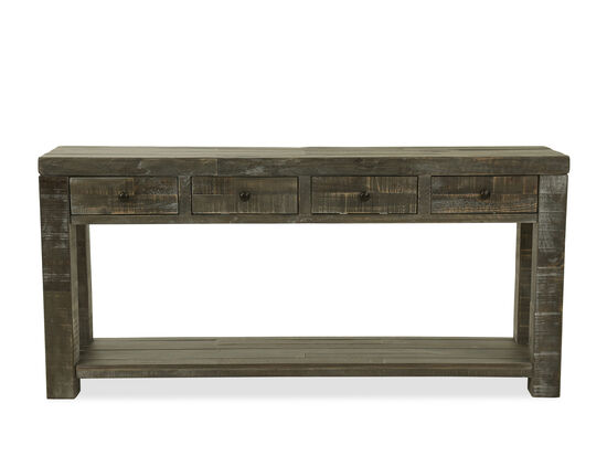 Four-Drawer Casual Sofa Table in Gray